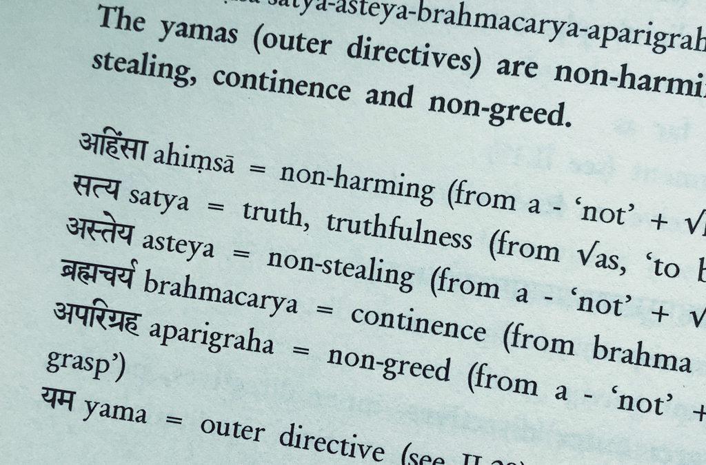 Die yamas & niyamas – sehr aktuell interpretiert
